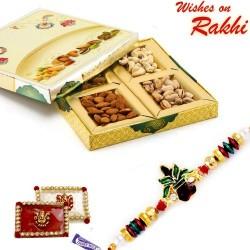 Designer Dryfruits Box Bhaiya Rakhi Hamper