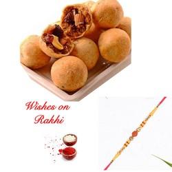 Dryfruit Kachori Box with Rudraksh and AD Rakhi