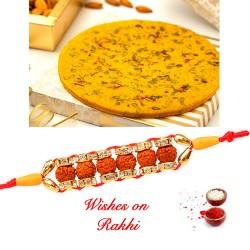 Badam Rotla Pack with Exclusive Rudraksh Rakhi