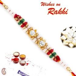 Golden Charm Mauli Thread Rakhi