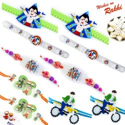 Set of 10 Kids Rakhi with Tilak Pack