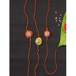 Set of  3 Traditional Handcrafted Bhaiya Rakhi
