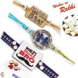 Set of 3 Fancy Bhaiya Rakhi Set
