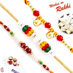 Set of 3 Beads Rakhi