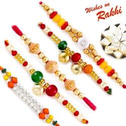 Set of 5 Charming Multicolor Rakhi