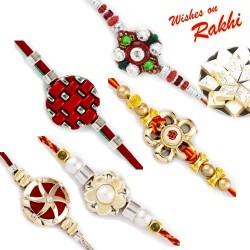 Set of 5 Bhaiya Rakhis