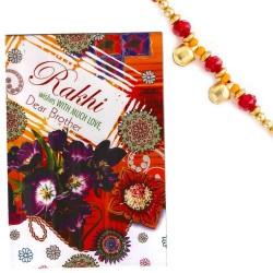Colorful Rakhi Card with Raksha Bandhan Message & Rakhi