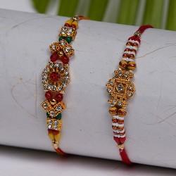 Set of 2 AD with Beads Rakhis