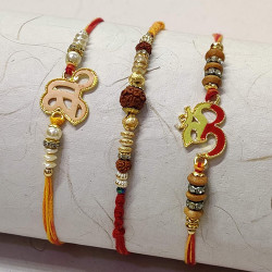 Set of 3 Auspicious Rakhis for Your Brothers
