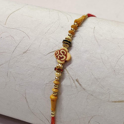 OM with Beads and AD Rakhi