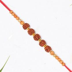 5 Rudraksh with Beads Rakhi