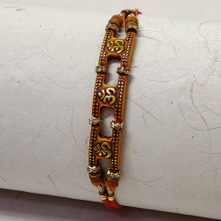 OM with AD and Beads Rakhi