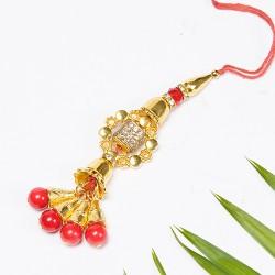 AD, Beads and Crystal Studded Lumba Rakhi