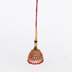 Pearls and Beads Studded Lumba Rakhi