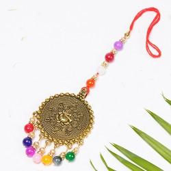 Ganeshji Motif with Multicolor Beads Lumba Rakhi