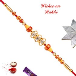 AD and Colored Beads Rakhi
