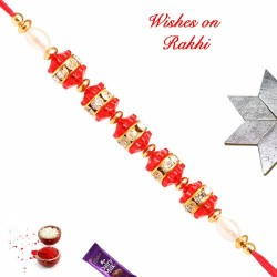 AD Beads and Pearls Fancy Rakhi