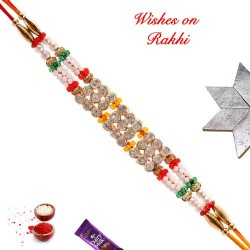 Amazing AD Pearls and Beads Rakhi