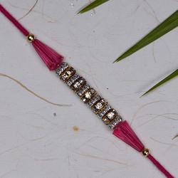 American Diamonds and Beads Studded Rakhi