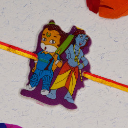 Bal Hanuman and Krishna Kids Rakhi
