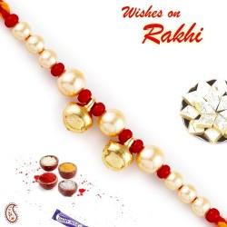 Beautiful Twin Bell Pearl Rakhi