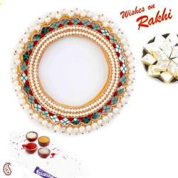 Beautifully Mirror Designed Lumba Rakhi