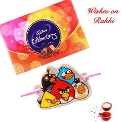 Cadbury Celebrations Box with Angry Birds Kids Rakhi