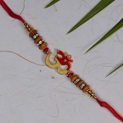 Divine OM Rakhi with Beads and AD