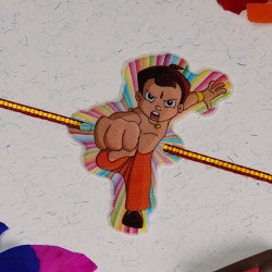 Fighting Chhota Bheem Kids Rakhi