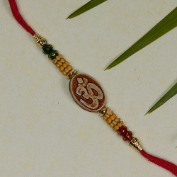 Om with Multicolor Beads Rakhi