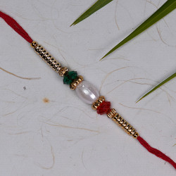 Pearl with Multicolor Beads Rakhi