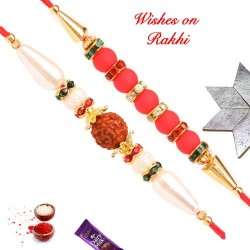 Set of 2 Exclusive Hand Crafted Rakhis