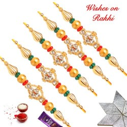 Set of 5 AD and Coloring Beads Rakhis