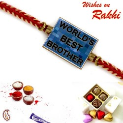 Worlds Best Brother Blue Colour Kids Rakhi
