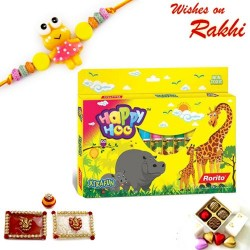 12 Colourful Sketch Pen Set with Rakhi