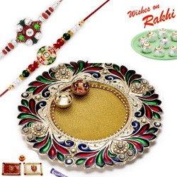 16 Pc Ferrero Rocher Box with 2 Rakhi