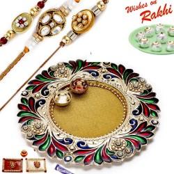 16 Pc Ferrero Rocher Box with 3 Bhaiya Rakhi