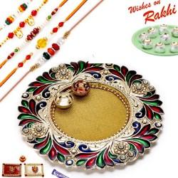 16 Pc Ferrero Rocher Box with Set of 5 Rudraksh Rakhi