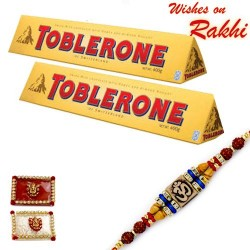 2 Pc Toblerone Elegant Rakhi Hamper