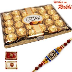 24 Pc Ferrero Rocher Box with Rakhi