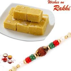 250 Gms Delicious Besan Barfi with Bhaiya Rakhi