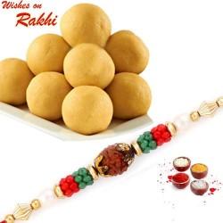 250 Gms Delicious Besan Laddu with Bhaiya Rakhi