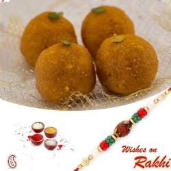250 Gms Delicious Boondi Laddu Pack with Bhaiya Rakhi