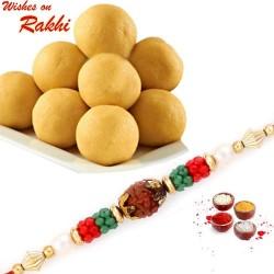 500 Gms Delicious Besan Laddu with Bhaiya Rakhi