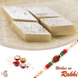 500 Gms Delicious Kaju Katli with Bhaiya Rakhi