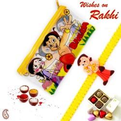 Chhota Bheem Pouch Box and Rakhi Kids hamper