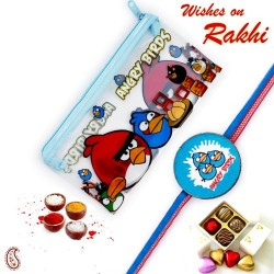 Angry Birds Pouch Box and Rakhi Kids Hamper