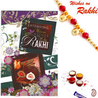 Rakhi with Rakhi Cards