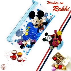 Mickey Mouse Pouch Box and Rakhi Kids Hamper