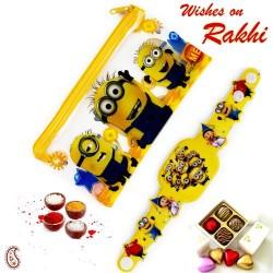 Minions Pouch Box and Rakhi Kids Hamper